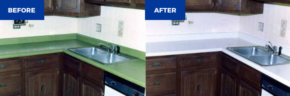 kitchen countertop refinishing before and after