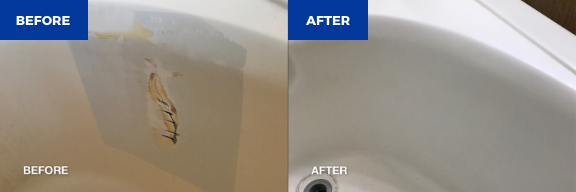 Bathtub spot repair before and after