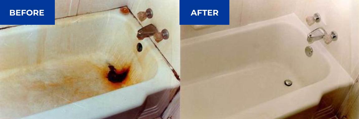 Bathtub Refinishing Before & After - NuFinishPro