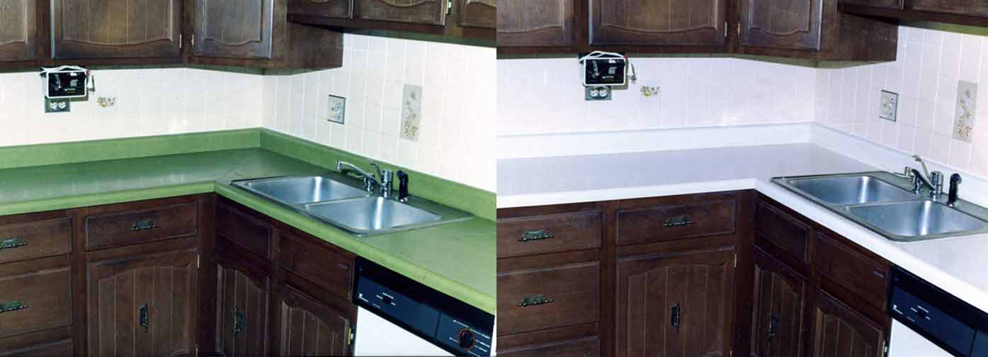Before And After - Kitchen Countertop Resurfacing - NuFinishPro