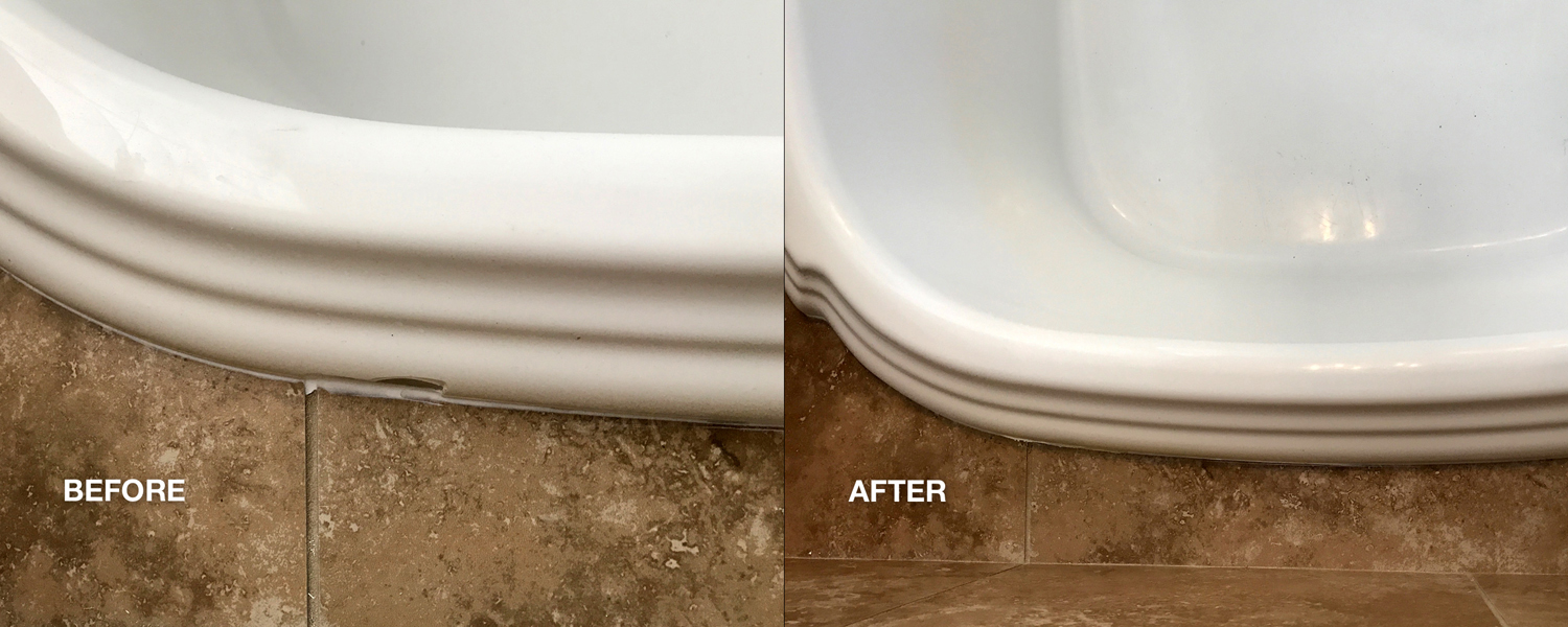 Bathroom repairs - before and after