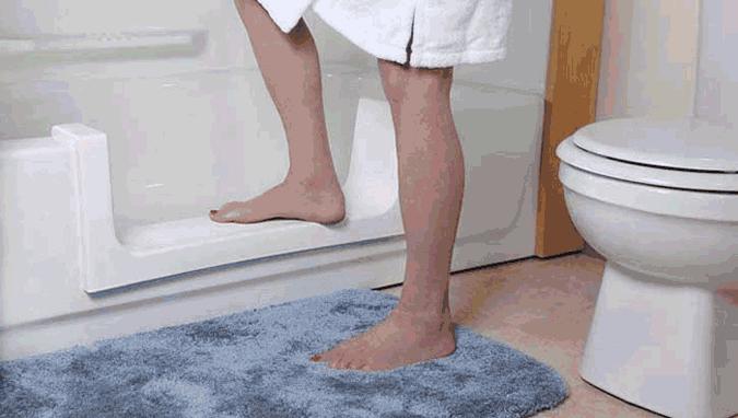 Marche de sécurité dans la baignoire