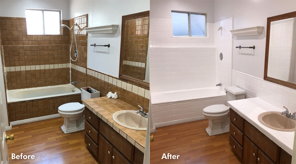 bathroom refinishing before after full