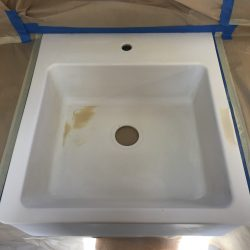 Kitchen sink refinishing before repair - NuFinishPro