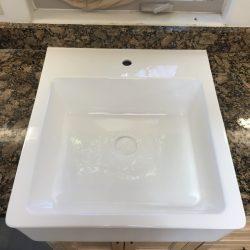 Kitchen sink after refinishing