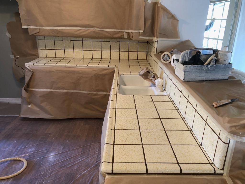 Kitchen Countertop Tile Resurfacing After - NuFinishPro