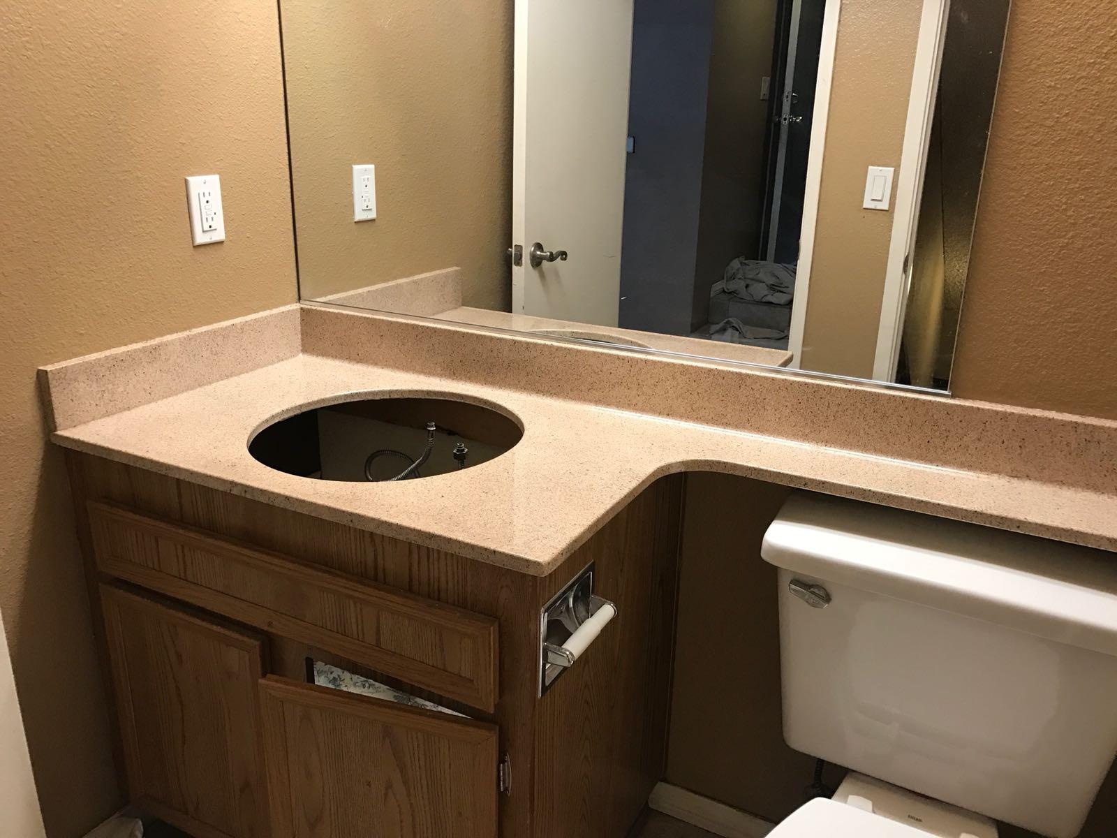 Bathroom Vanity Resurfacing After - NuFinishPro