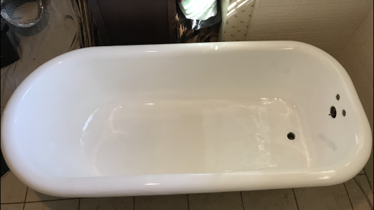 bathtub refinishing after photo