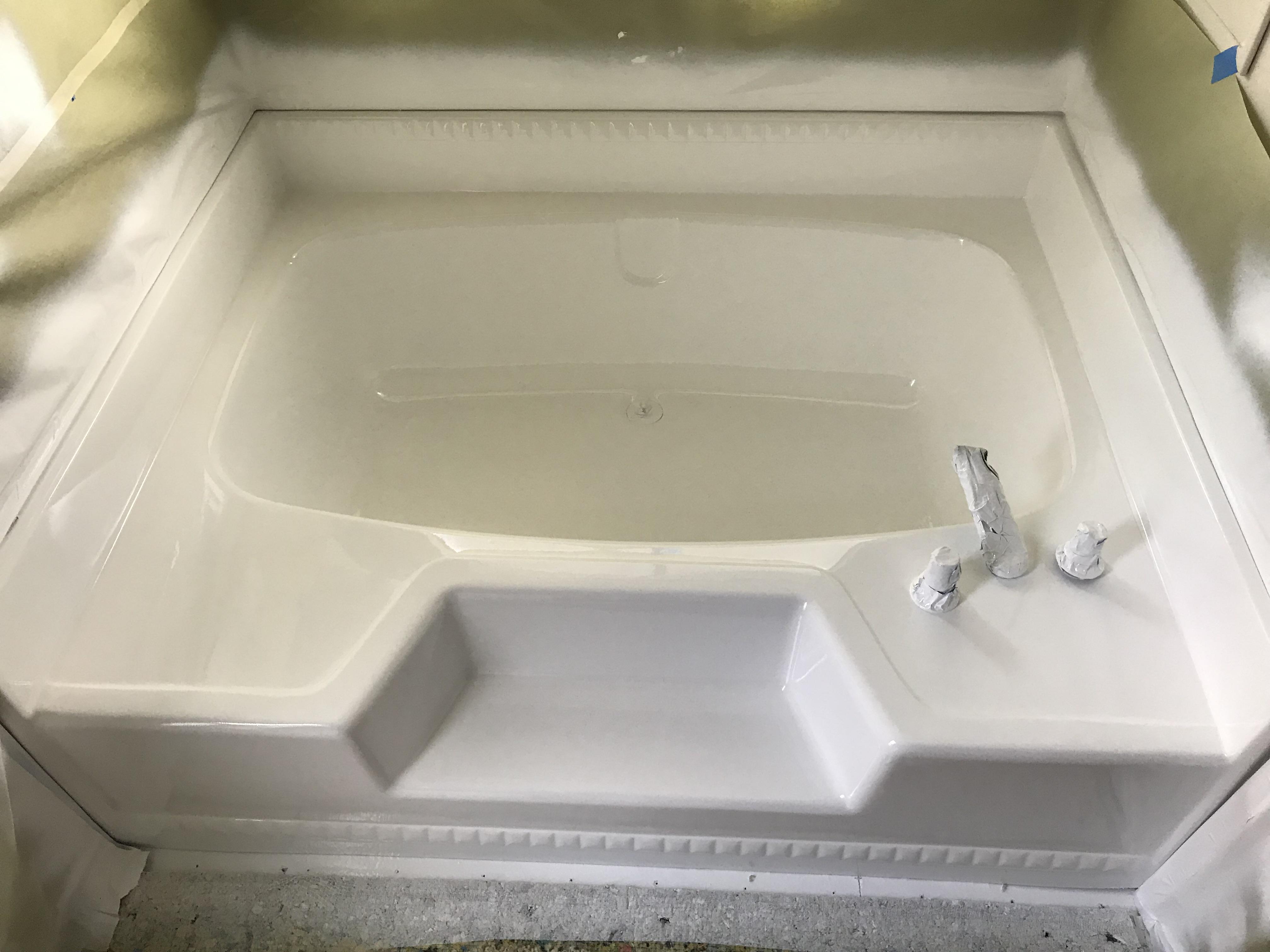 Large Sauna Tub Refinishing After Work - NuFinishPro