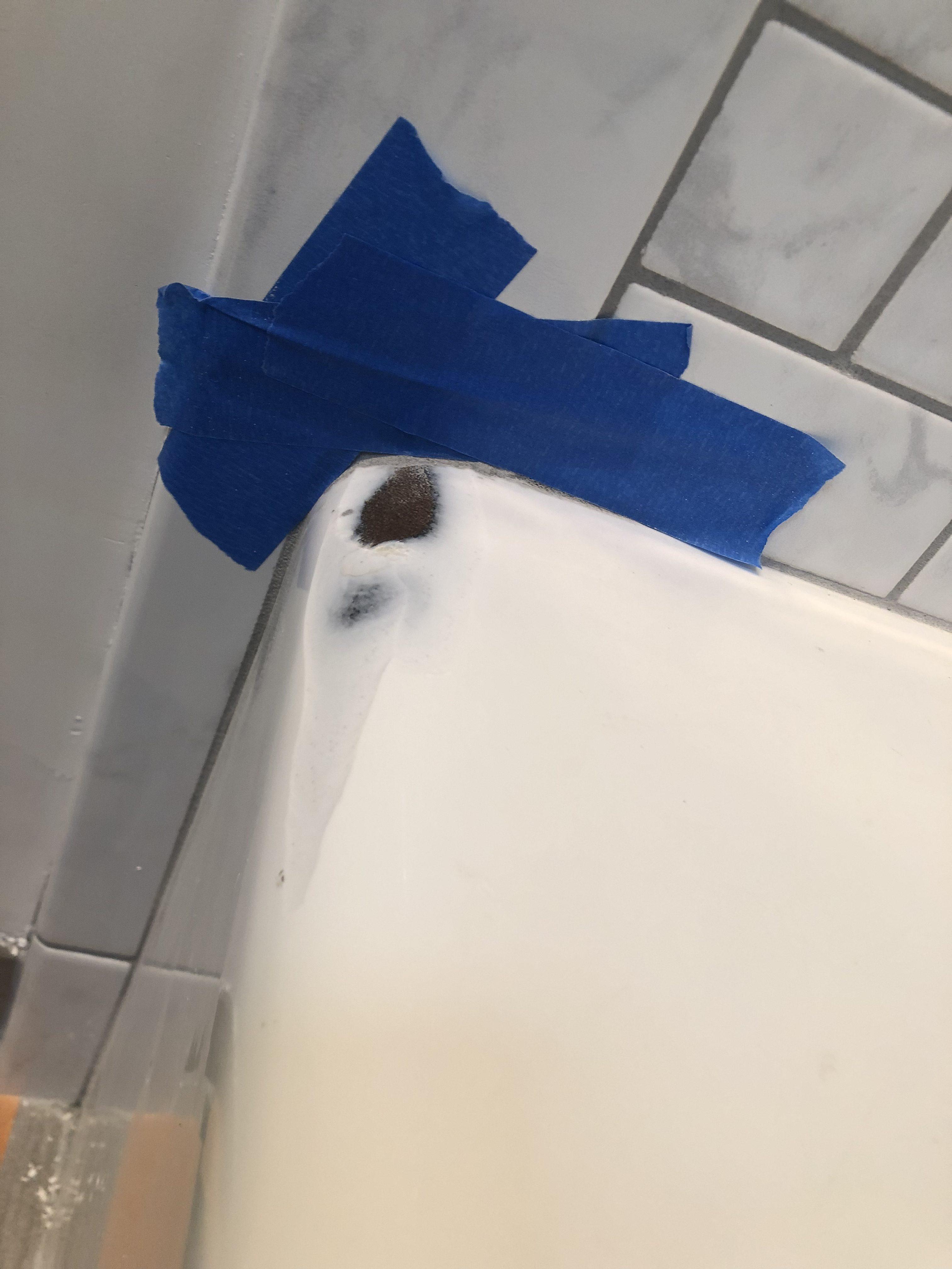 Bathtub Refinishing Before Spot Repair Work - NuFinishPro