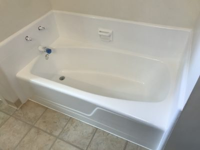 after nufinishpro bathtub refinishing and tile repair