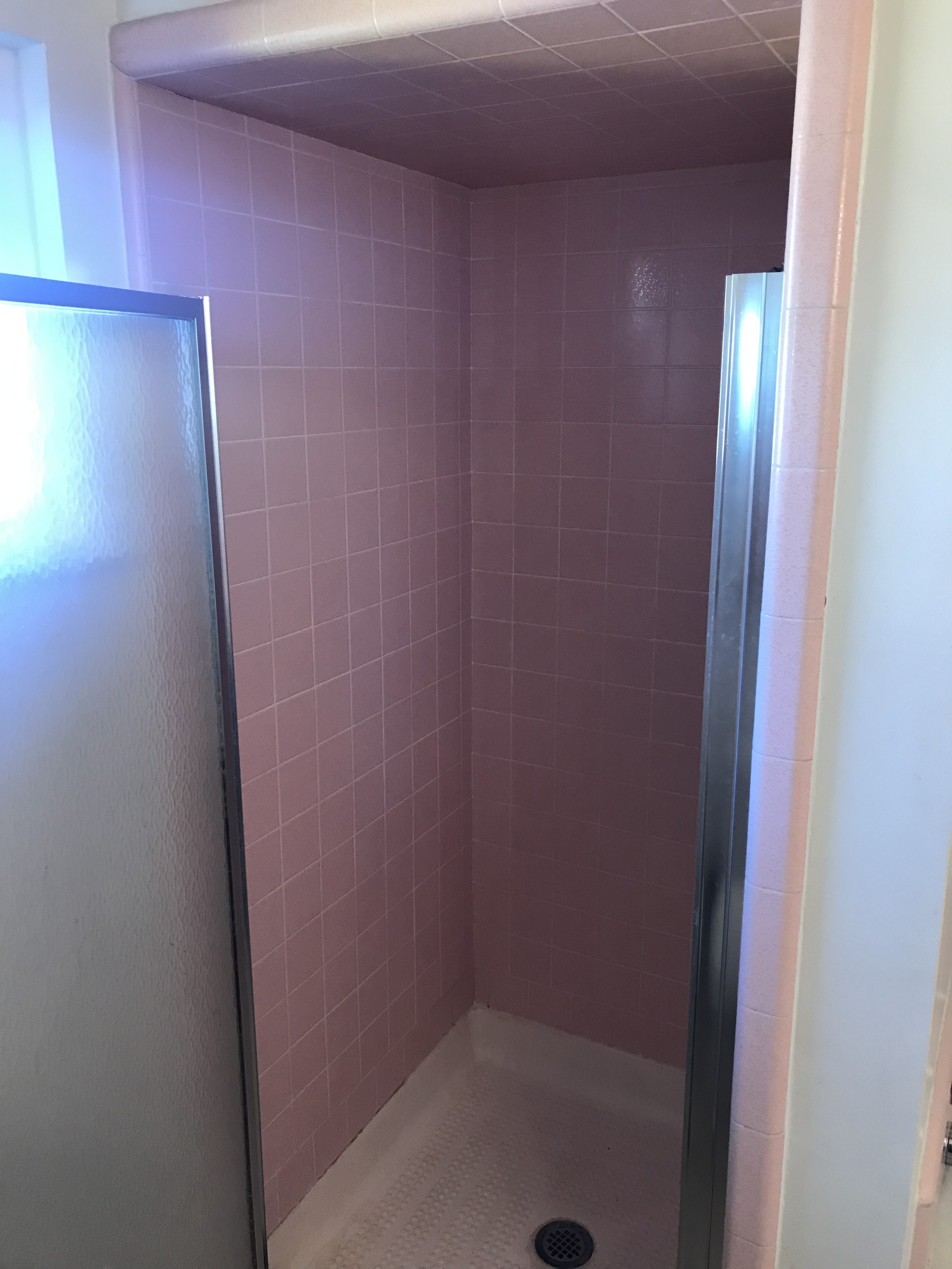 Shower Tile Resurfacing Before - NuFinishPro
