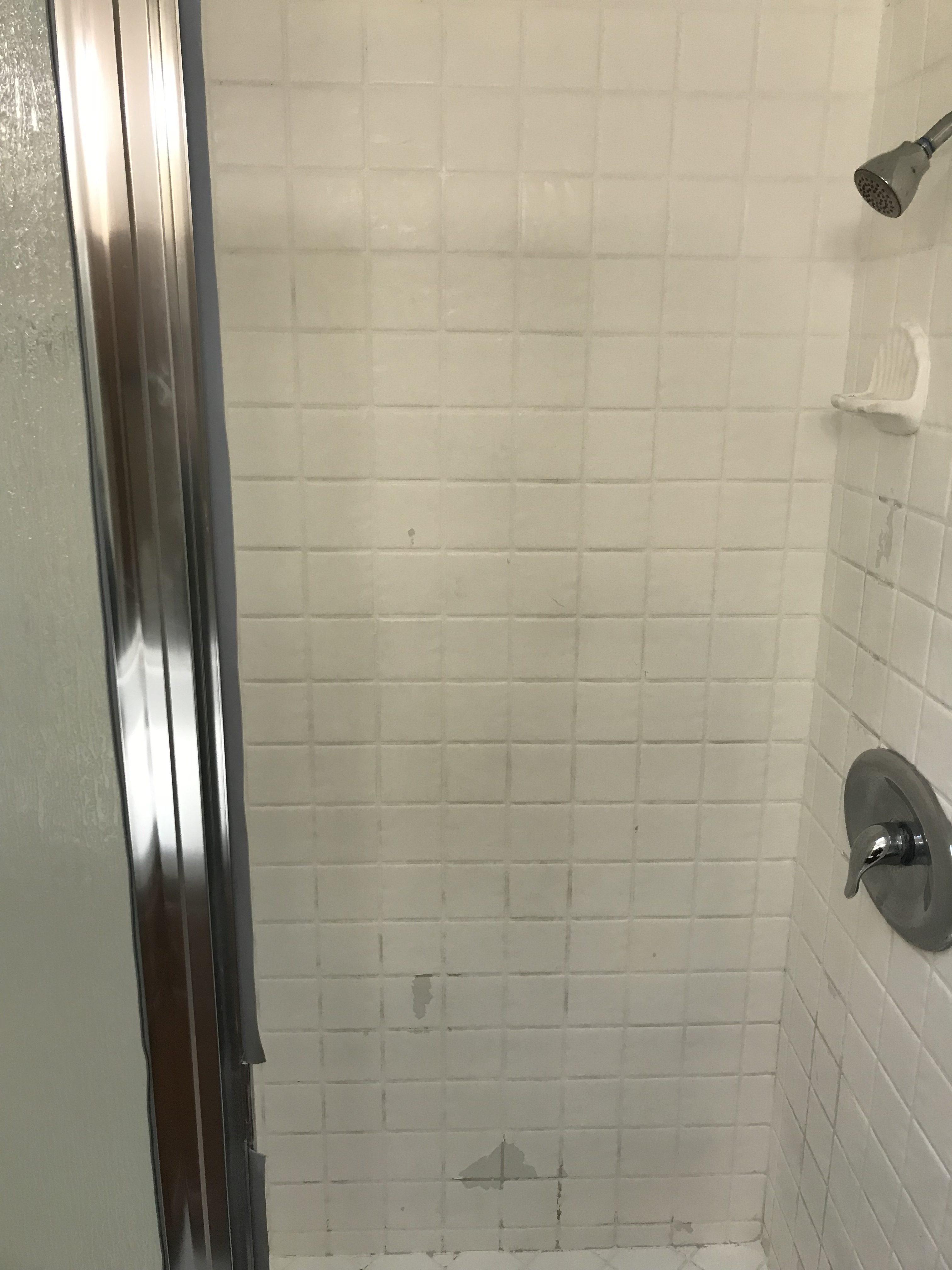 Shower Tile Resurfacing Before After - NuFinishPro