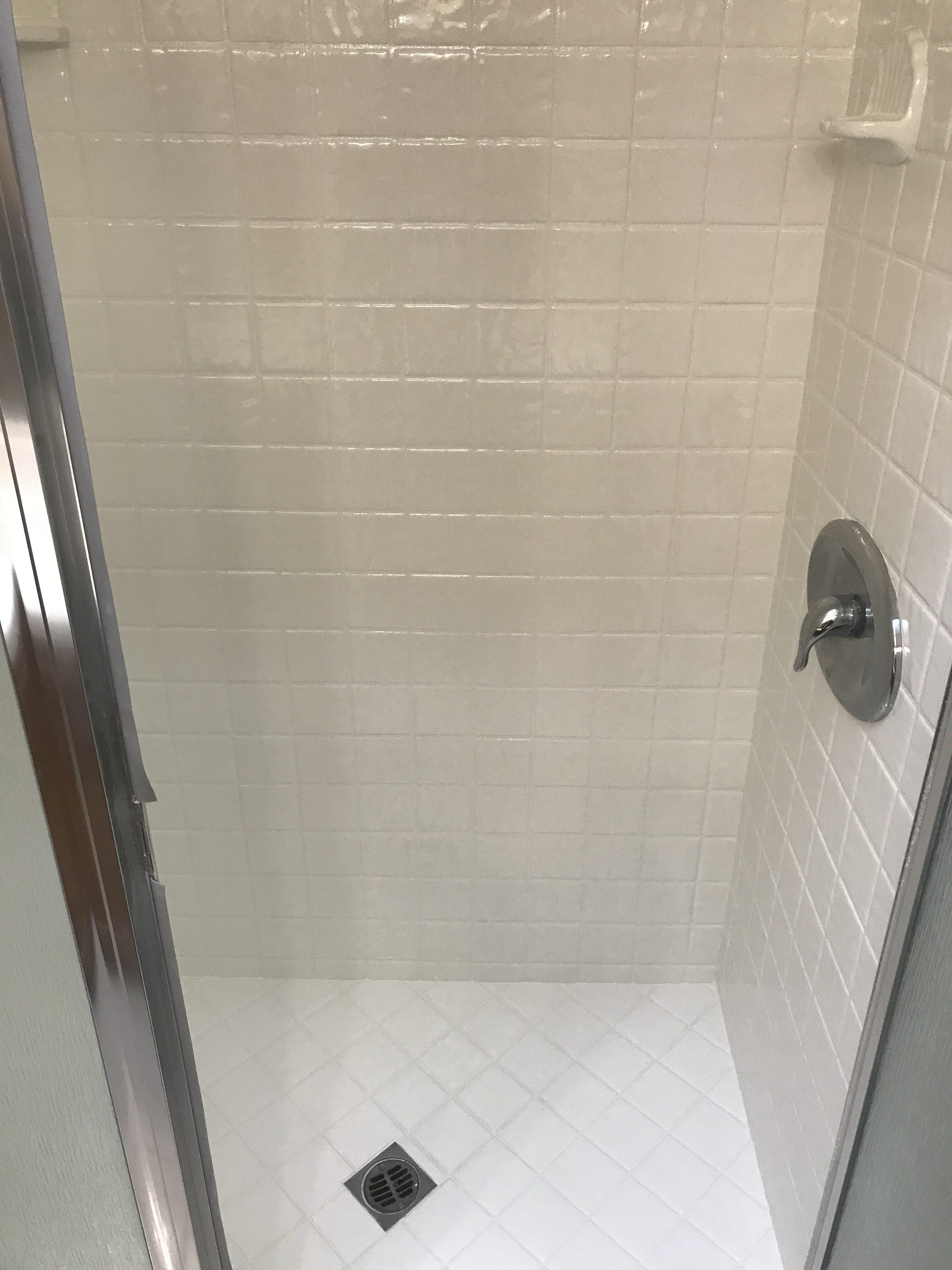 Shower Tile Refinishing After After - NuFinishPro