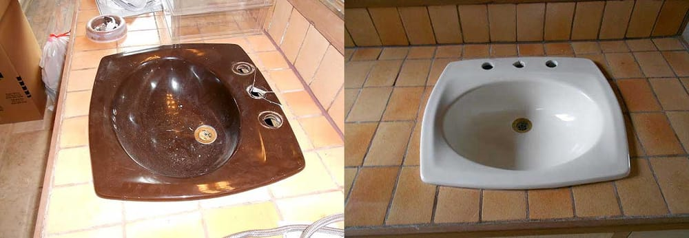sink repair before and after