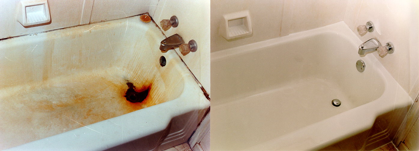 NuFinishPro bathtub refinishing before & after