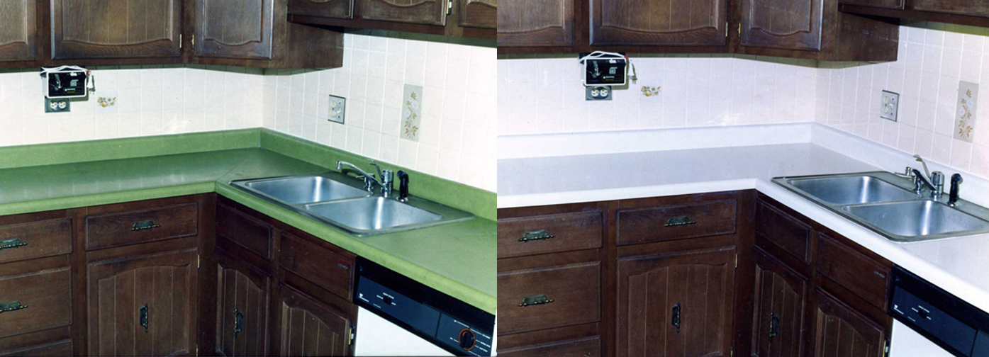 NuFinishPro Kitchen Countertop Refinishing Before & After