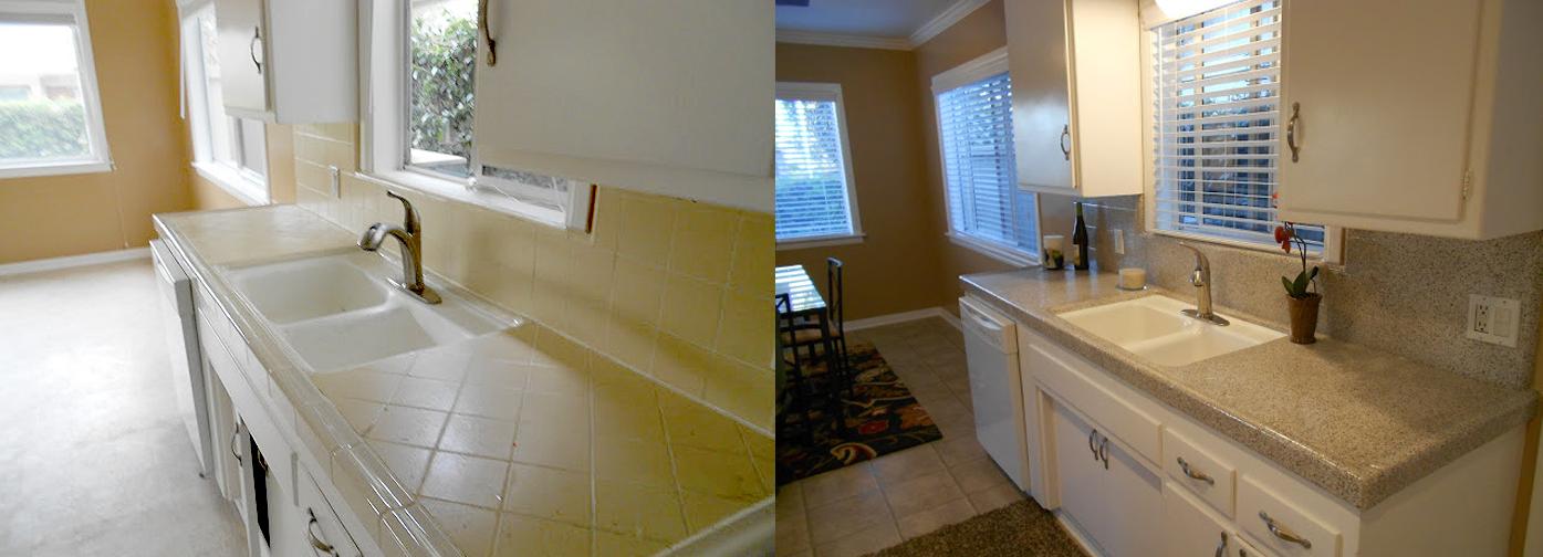 NuFinishPro Kitchen Tile Refinishing Before & After