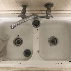 Sink refinishing before by NuFinishPro